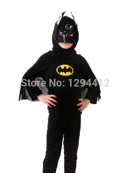 Red Spiderman Black Spiderman Batman Superman Halloween Children Costume