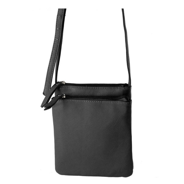 Women Pu Leather Shoulder Bag Casual Flap Contracted Style Casual Solid Soft Crossbody Bag