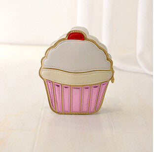 Ice Cream Cupcake Mini Bags Pu Leather Small Chain Clutch Crossbody Girl Shoulder Messenger Bag
