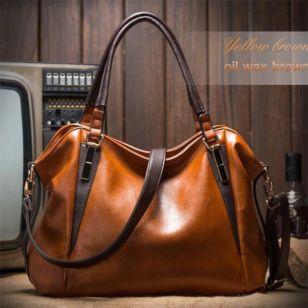 Genuine Leather Casual Shoulder Vintage Luxury Messenger Crossbody Big Tote Bag
