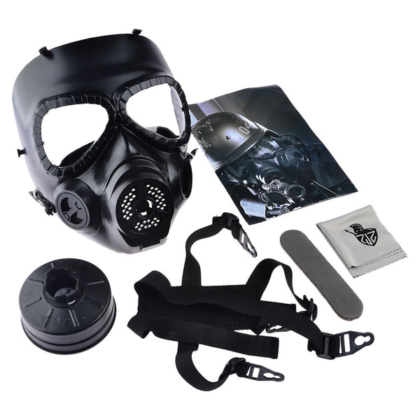 CS Airsoft Paintball Dummy Gas Halloween Mask with Fan