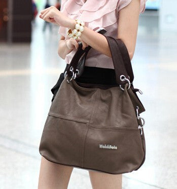 Retro Vintage Leather Handbag Tote Trendy Shoulder Messenger Crossbody Bag For Women