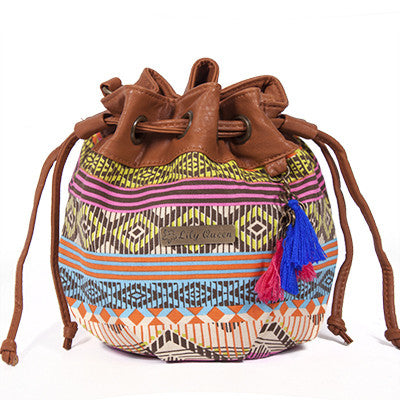 Canvas Beach Small Summer Ethnic Bucket Fabric Women Messenger Crossbody National Bag Handbags