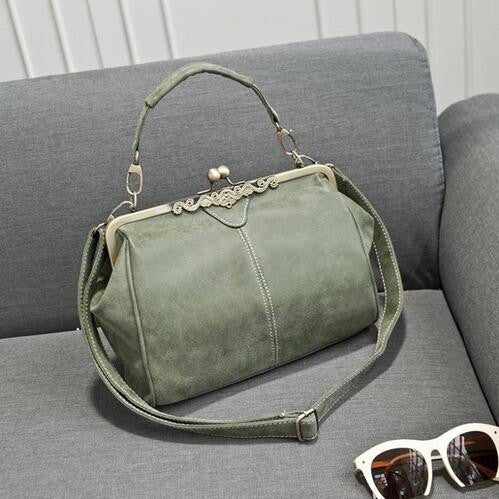 British Vintage Hardware Matte Messenger Bags Crossbody Bag Classical Frosted Shoulder Bag