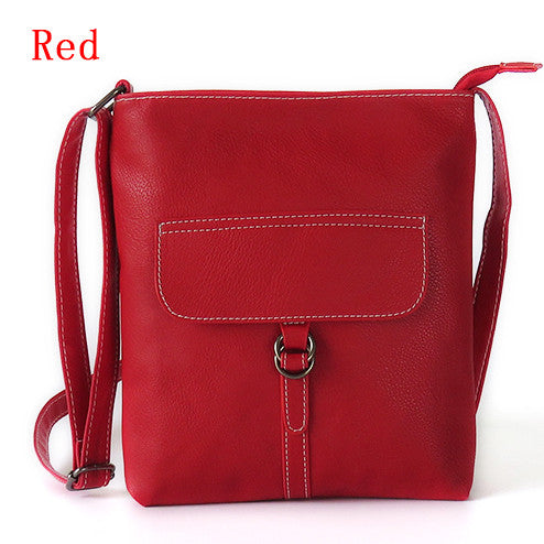 Women Messenger Bags Crossbody Bag For Women Leather Shoulder Bag Female Vintage Satchel 3 Colors