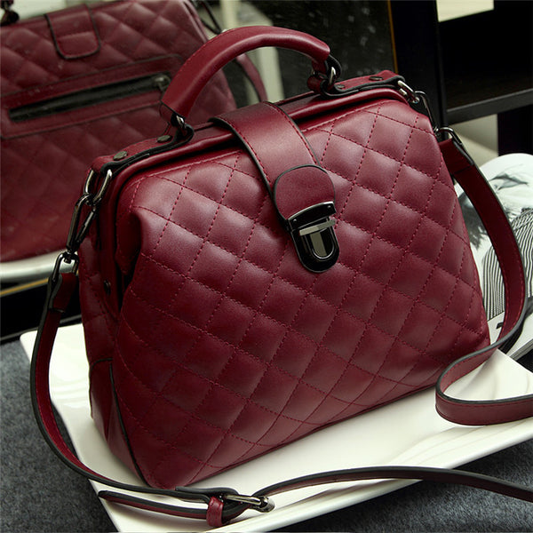 Luxury Handbags Pu Leather Vintage Shoulder Crossbody Bag For Women