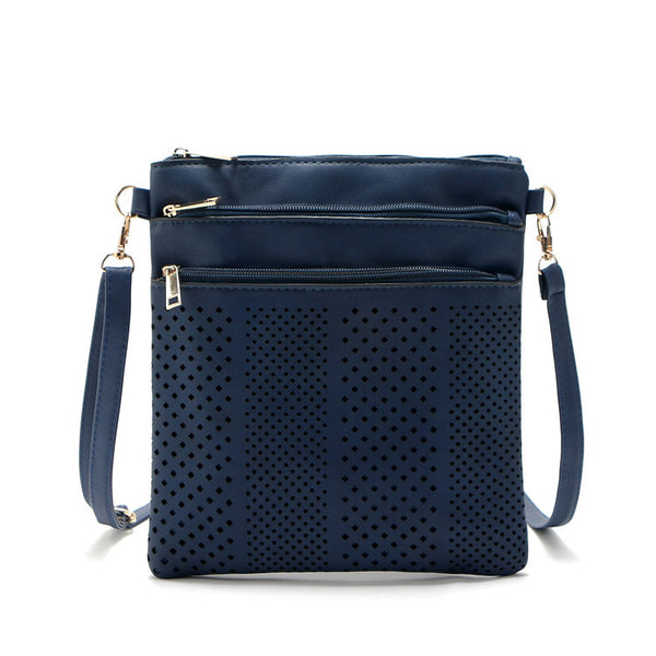 Fashion Small Bag Women Messenger Bags Soft Pu Leather Hollow Out Crossbody Bag For Women