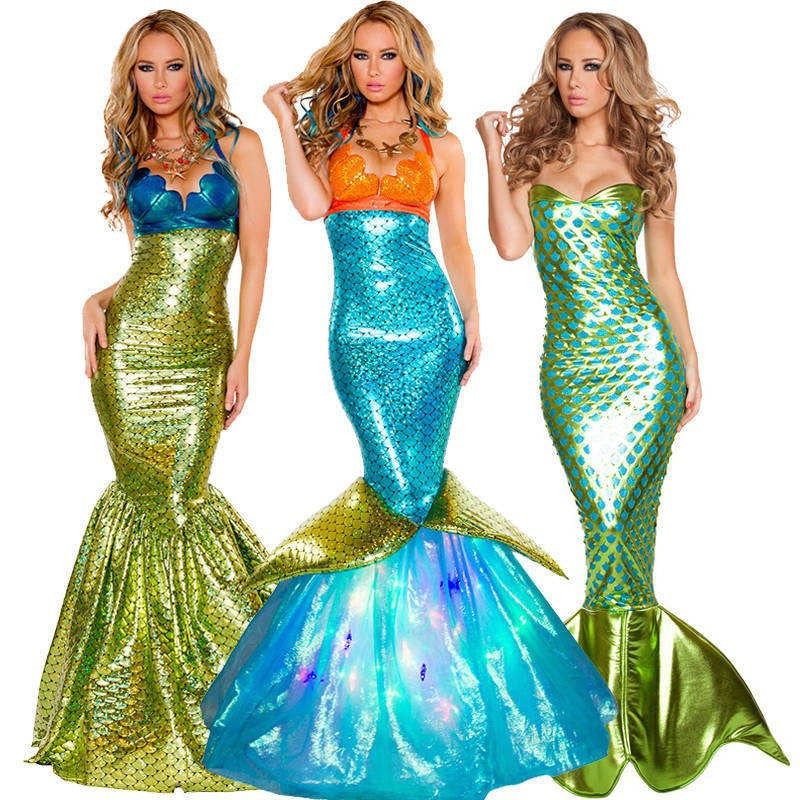 sea maid mermaid halloween cosplay women costumes