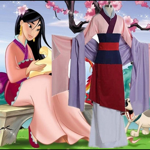 Princess Mulan Cosplay Halloween Costumes Women