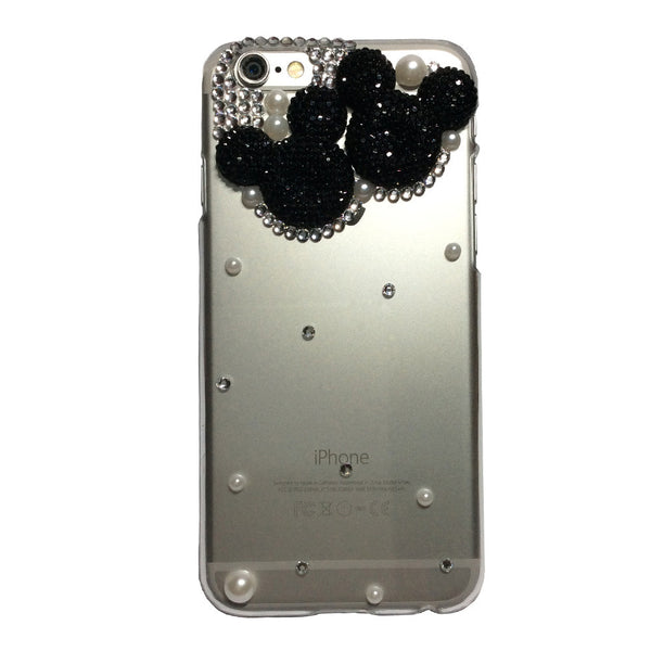 Bling Black Minnie Mickey Diamond Phone Case for iPhone 7 7 Plus