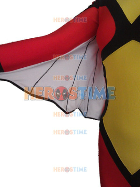 Red & Yellow Spider Superhero Cosplay Halloween Costumes For Women