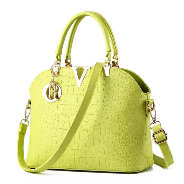 Luxury Leather Handbags Women Messenger Bag Ladies Crocodile Pattern Shoulder Bag Crossbody