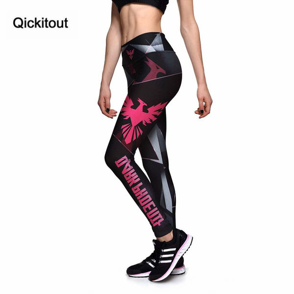 Running Sport High Waist Red Phoenix Digital Printing Leggings Fitness
