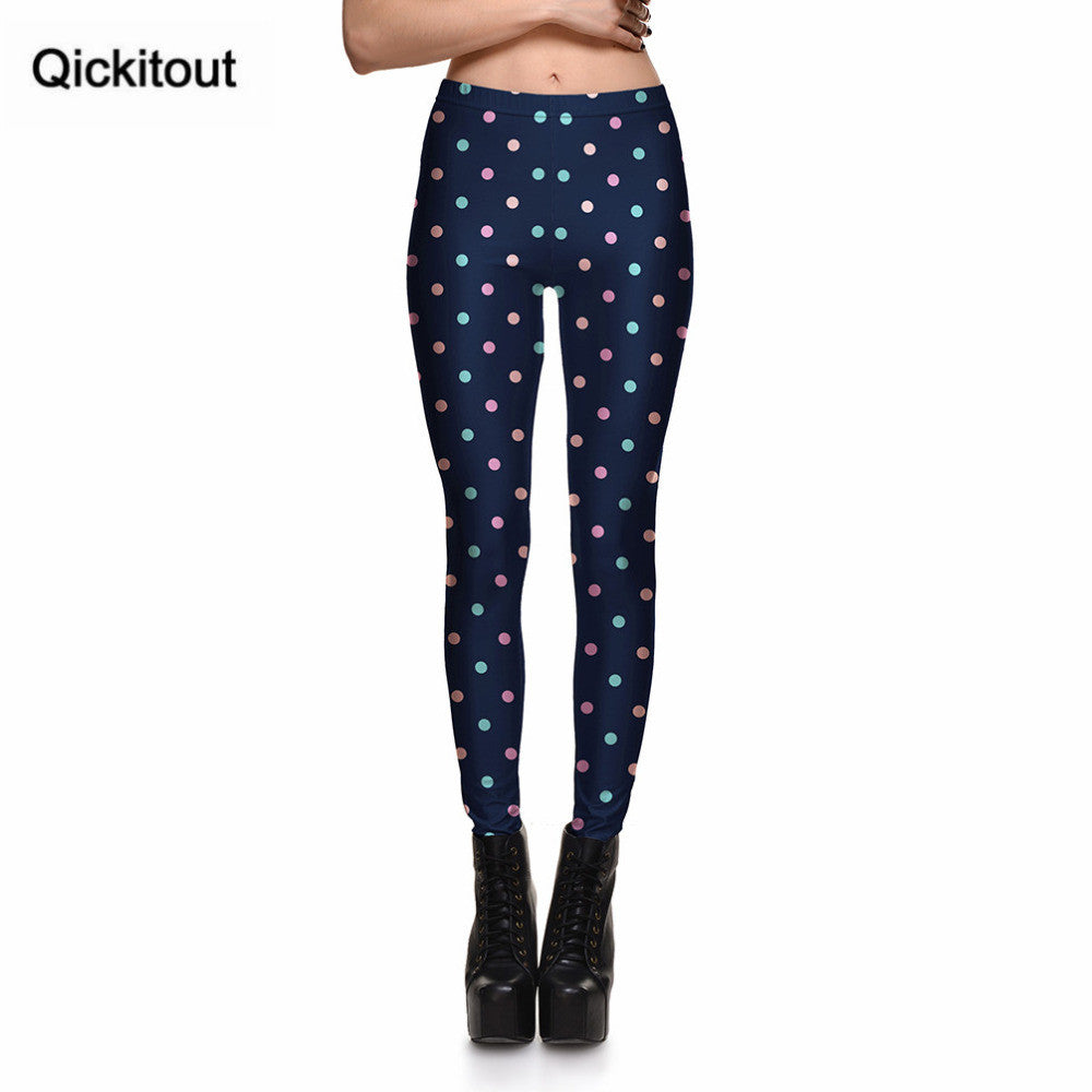 Colorful Dots Digital Printing Leggings