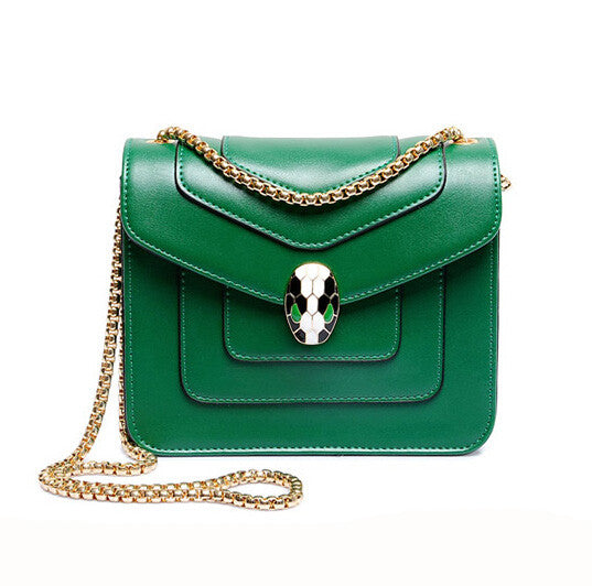 Pu Leather Crossbody Bag For Women Luxury Chain