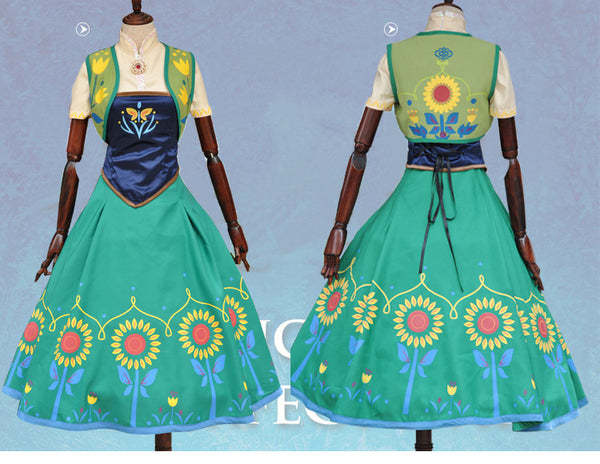 Princess Anna Cosplay Halloween Costumes For Women