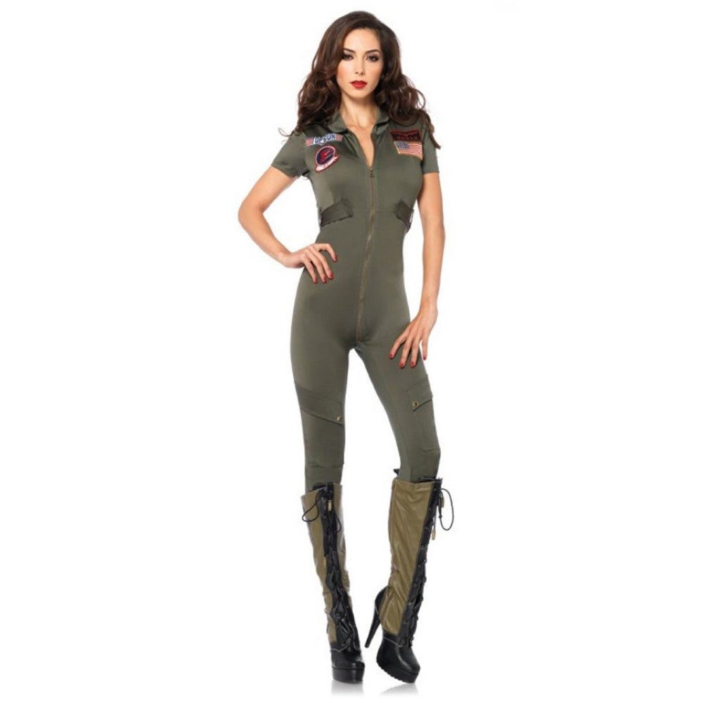Gun Flight Army Police Suit Halloween Women Costumes