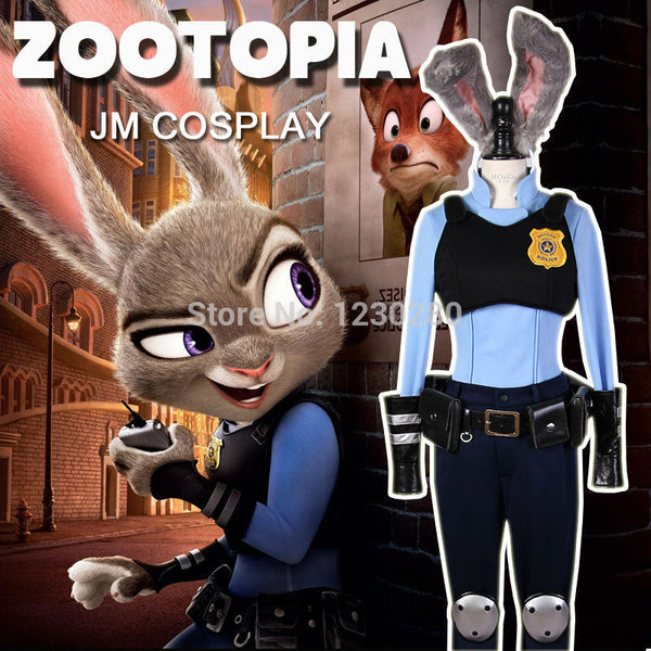 Zootopia Officer Judy Hopps Cosplay Carnival Halloween Costumes For Women Plus Size