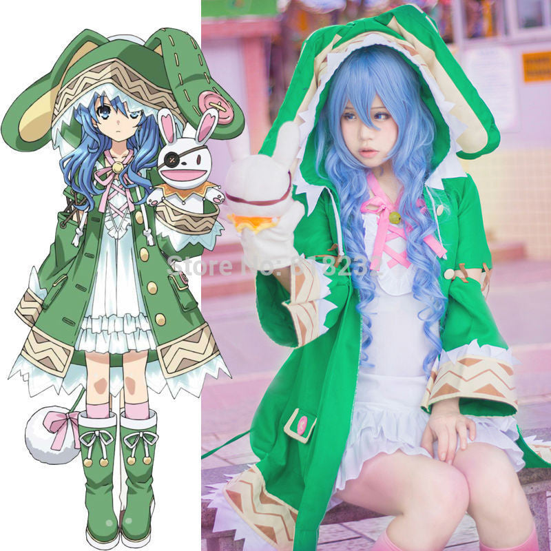 Date A Live Yoshino Halloween Uniform Elves Outfit Anime Cosplay Costumes Women