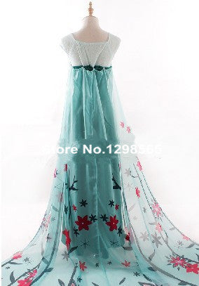 Princess Elsa Women Halloween Cosplay Costumes Custom Made