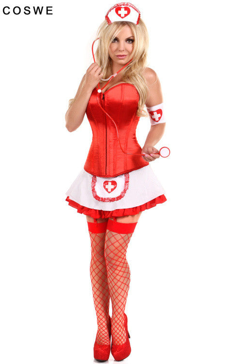 Role Playing Set Uniform Nurse Halloween Costumes For Women