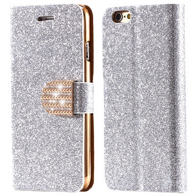 iPhone 7 7 Plus Full Body Bling Matte Flip Leather Phone Case Stand Wallet Cover Pouch