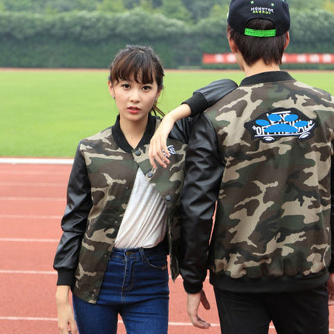 Lovers Harajuku Baseball Leather Jacket Spring Autumn Casual Coat Female Clothes