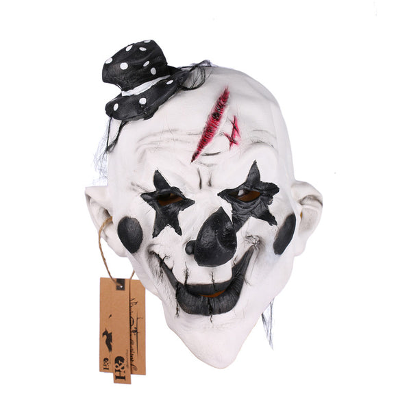 Black and White Scary Clown Halloween Mask Full Face