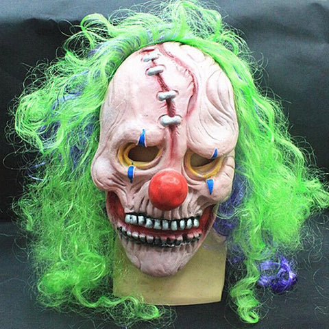 Clown Wry Face Halloween Mask