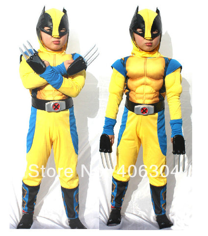 Children Avengers Wolverin Halloween Costume
