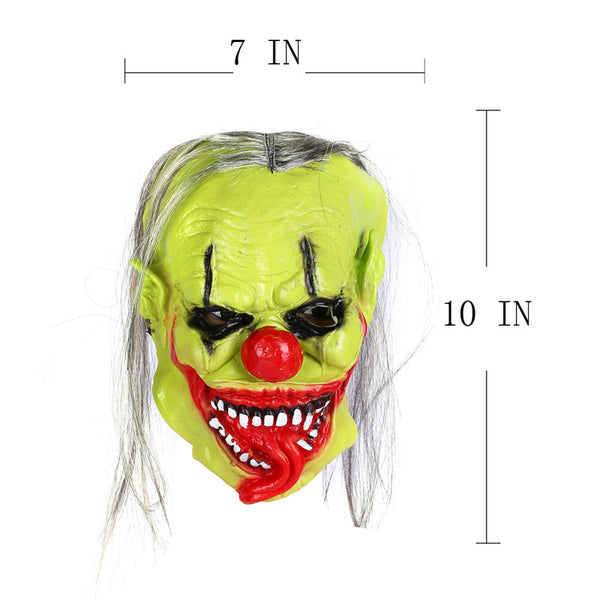 Full Face Cosplay Scary Green Clown Ghost Mask Horror Masquerade Adult Ghost Mask Halloween