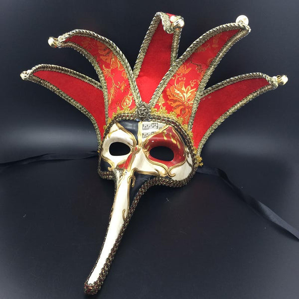Masquerade Party Halloween Mask Italy Venice Handmade Long Nose Pentagon