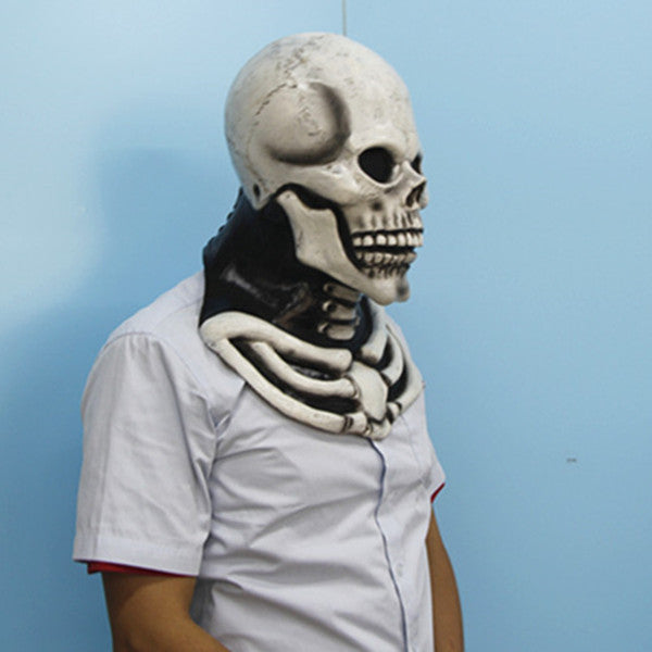 Skull Skeleton Full Head Latex Rubber Halloween Mask