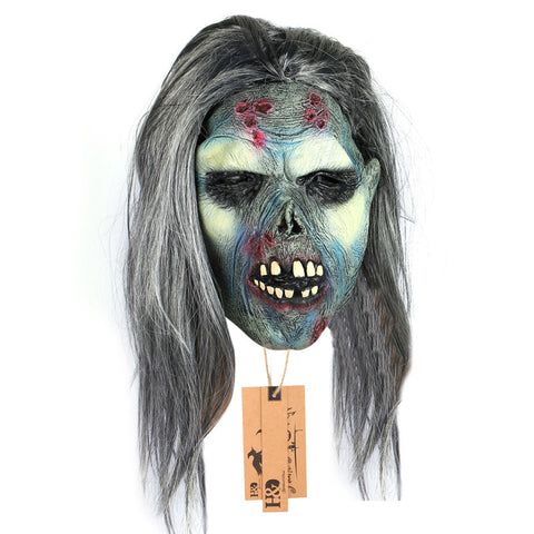 Full Face Cosplay Scary Zombie Ghost Latex Halloween Mask