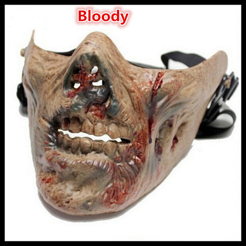 Zombie Skull Bone Half Face Halloween Mask