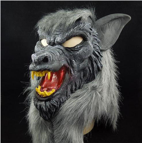 Gray Werewolf Wolf Halloween Mask