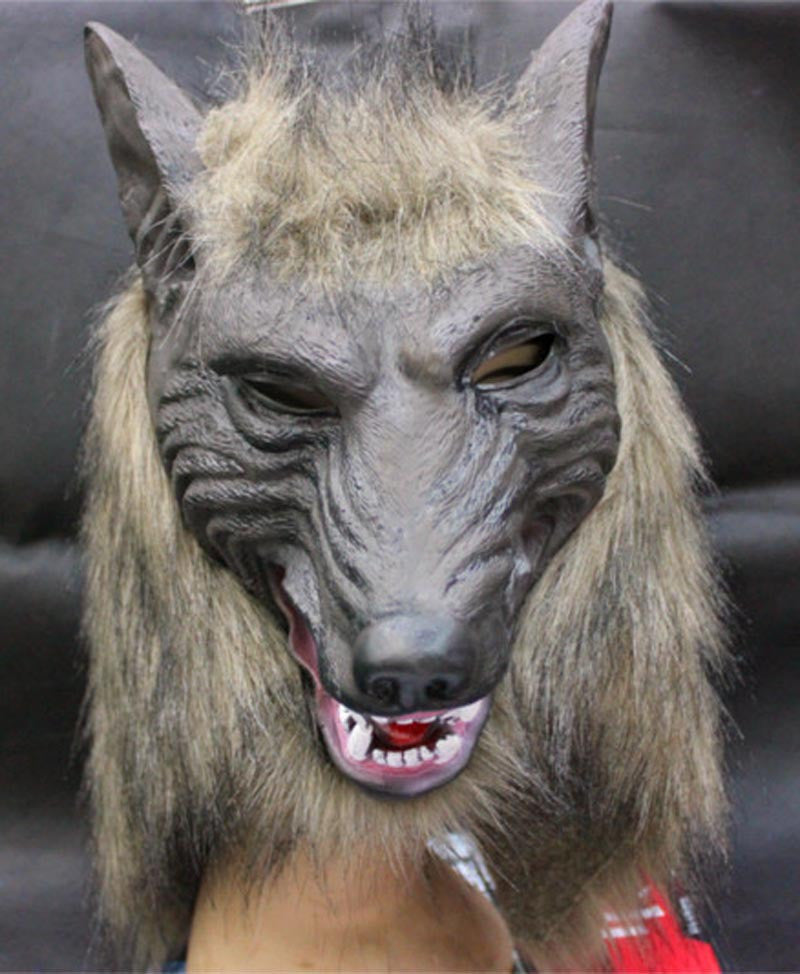 Scary Masquerade Halloween Wolf Head Mask