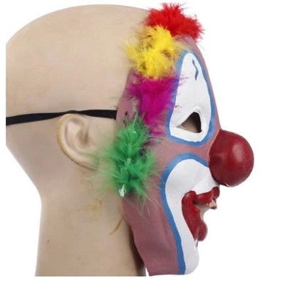 Colorful Full Face Clown Mask Environmentally Friendly Latex Material as Halloween Party Masquerade