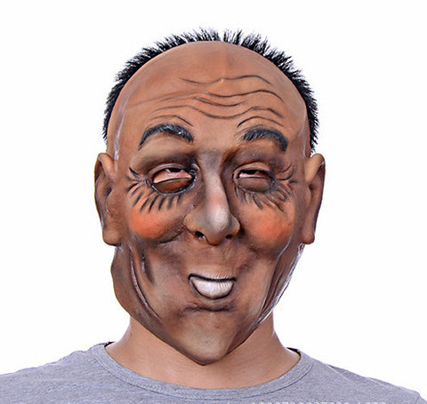 Terror Halloween Mask Party Cosplay Beige Scary Natural Latex Full Face Mask
