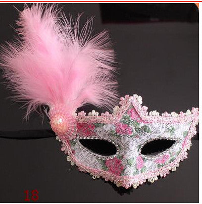 Venetian Lace Feather Eye Mask Beautiful Princess Party Performances Halloween Masquerade Masks