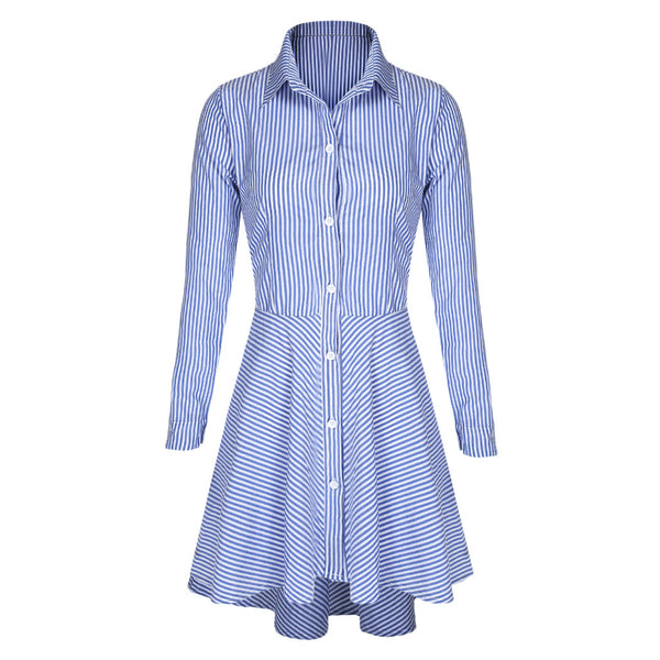 Women Autumn Winter Dresses Sexy Long Sleeve Striped Short Mini Casual Party Office Dress S-XL