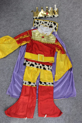 Children King Prince Charming Cosplay Halloween Costume