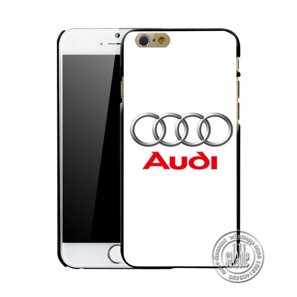 Audi Twin Turbo V8 Gecko Quattro Case Hard Plastic Mobile Phone Bag For iPhone 7 7 Plus Cover Shell