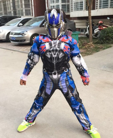 Children Boys Cosplay Transformers Halloween Costume Optimus Prime Bumblebee
