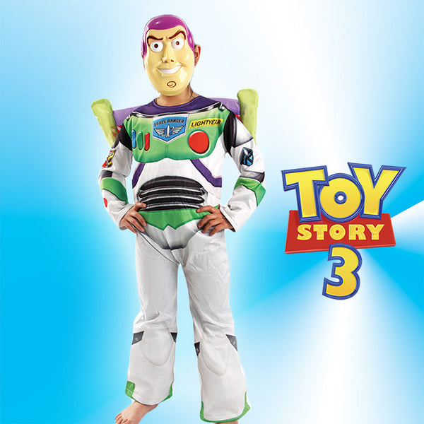 Toy Story Buzz Lightyear Cosplay Costume Halloween for Children with Mask/Wing