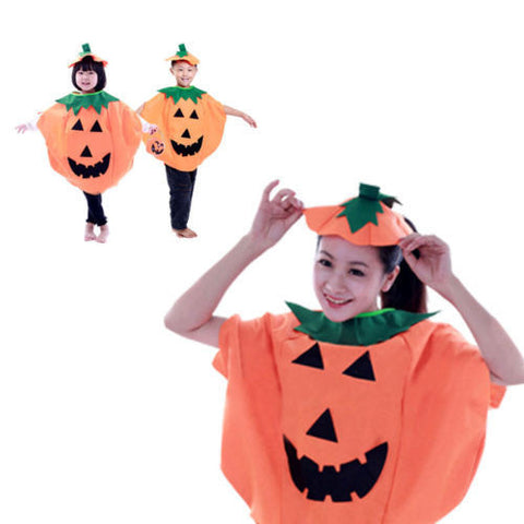 Children Girls Boy's Pumpkin Halloween Costume