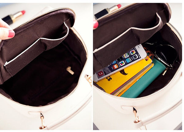 Women Solid Pu Leather Handbag Chain Shoulder Lady Messenger Bag Candy Color Crossbody Bag