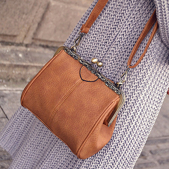 Simple Messenger Europe And America Style Vintage Shoulder Crossbody Bag