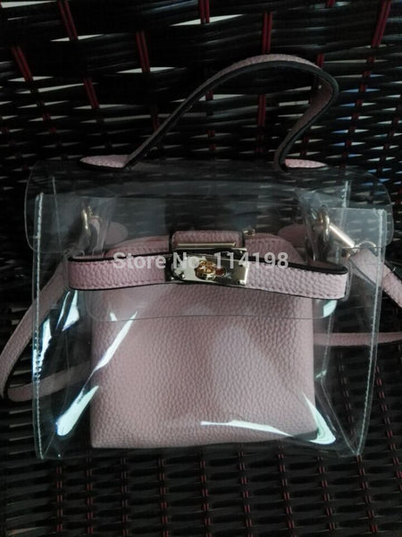 Candy Color Jelly Clear Plastic Bag  Small Flap Transparent Pvc Crossbody Sweet Cute Bag