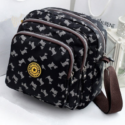 Nylon Small Shoulder Bag Color Waterproof Travel Crossbody Bag
